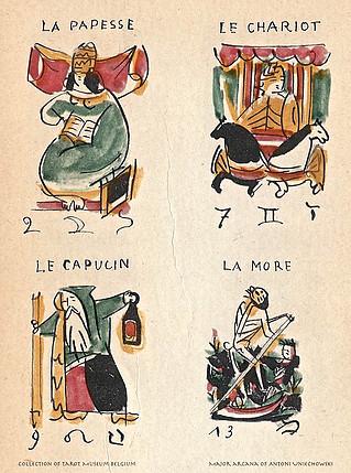 Antique Polish Tarot Card from 1961