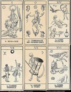 Belgian Tarot Card from 1945: Nouveau Tarot Astrologique